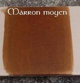 Teinture cuir marron moyen