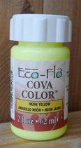 Peinture opaque à base d'eau - JAUNE néon- Cova Color