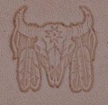 Matoir 3D Crâne de bison indien