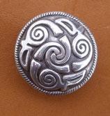 Concho spirale pour cuir