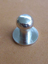 Bouton de col nickel taille 2