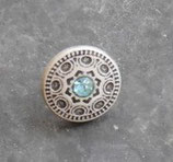 Freya turquoise vieil argent 15mm