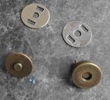 Top magnétique vieux laiton diamètre 14 mm