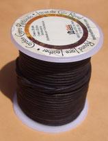 Lacet rond noir 2 mm