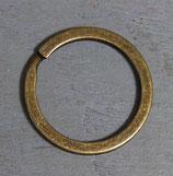 Anneau plat de porte-clés 25 mm laiton vieilli