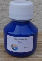 Teinture de tranche - bleu