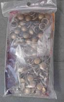 Rivets bombés 10 mm vieux laiton