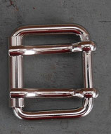 Boucle double ardillon à rouleau 25 mm finition nickel