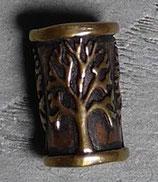Perle de barbe - bronze - Arbre