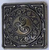 Carré celtique laiton vieilli