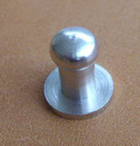Bouton de col nickel taille 1