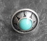 Concho rond natif turquoise petit