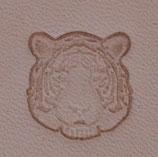 "Matoir mini ""3D"" cuir - Tête de tigre"