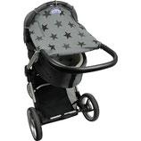 Dooky - Protection solaire poussette Gris étoiles