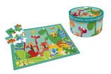 """Scratch - Puzzle 40 pièces """"Dinosaures"""" (3+)"""