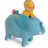 "Moulin Roty - Tirelire éléphant ""Sous mon Baobab"""