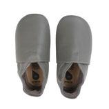 Bobux - Chaussons en cuir Small (3-9 mois) Uni Gris