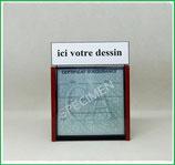 ( PR001 ) Un Porte certificat d'assurance ou CT auto avec votre dessin Perso Côté haut (fond noir ou transparent)