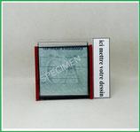 ( PR002 ) Un Porte certificat d'assurance ou CT auto avec votre dessin Perso Côté droit (fond noir ou transparent)