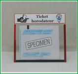 ( O ) Un Porte ticket horodateur (fond transparent)