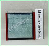 (MA000 ) Un Porte certificat simple pour assurance ou CT avec votre dessin Perso (fond noir ou transparent)
