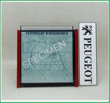 PEUGEOT.  Un Porte certificat simple pour assurance ou CT avec logo Peugeot (fond noir ou transparent)