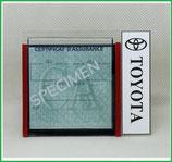 TOYOTA.  Un Porte certificat simple pour assurance ou CT avec logo Toyota (fond noir ou transparent)