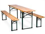 Festzeltgarnitur (1 Tisch (50cm) und 2 Bänke)