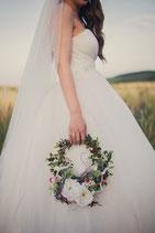 Brautstrauß - Kranz