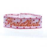 Findelkind Armband rosa mit Punkten