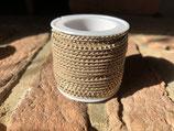 Wildlederband 3mm - Braun mit goldenen Nieten