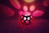 Mundgeblasene Windlicht Mittelalter Groß Pink