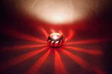 Mundgeblasene Windlicht Mittelalter  Klein Rot gestreift