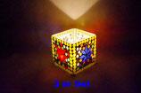 Mosaik Windlicht Würfel 3 er Set