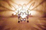 Windlicht Glas Metallgefäß