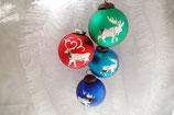 Weihnachtskugel Hirsch 28 st. Div. Farbe