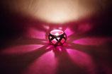 Mundgeblasene Windlicht Mittelalter  Klein Rosa