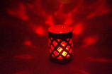Mundgeblasene Windlicht Mittelalter Rot