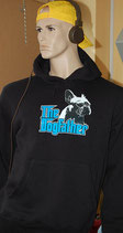 "Frensh Bullie Hoodie ""The Dogfather"" Farbe: Schwarz"