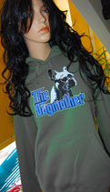 "Frensh Bullie Hoodie ""The Dogmother"" Farbe: Grau"
