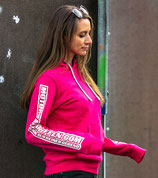 Damen - Motorrad-Treffen.com Hoodie Pink / Aufdruck Weiß