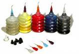 AKUA-Kolor Set aus 5 Flaschen mit unterschiedlichen Spitzen