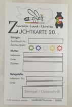 """Zuchtkarte """"Kärnten"""""""