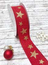 Motivband Sterne rot 40mm, 2 Meter