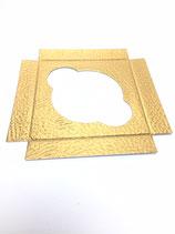 Bodenplatte für PVC Cupcake Box Quadrat mit Henkel