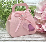 "Verpackungs-Set ""Handbag rosa Herz"""