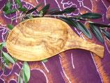 オリーブ木 木の葉形皿大25cm