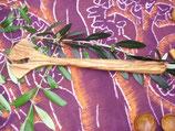 オリーブ木 へら イチョウ型 31cm