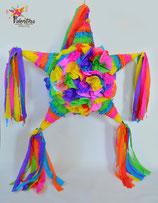 Blumige Stern-Piñata mit 5 Spitzen