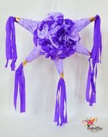 Blumige Stern-Piñata in Lila